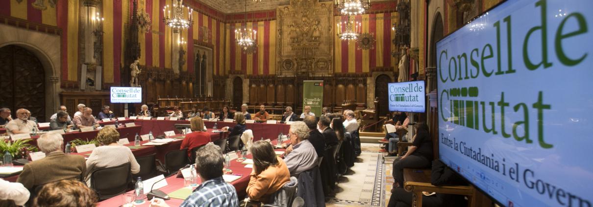 Imatge d'un plenari del Consell de Ciutat
