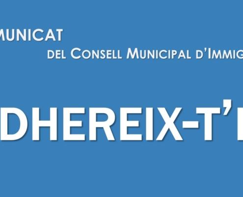 Comunicat del Consell Municipal d'Immigració